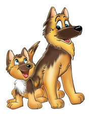 dogs cartoon