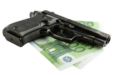 gun and money
