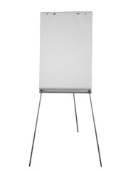 Flipchart aka flip chart, isolated over white background