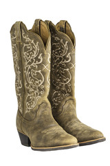Ladies Brown Western Cowboy Boots