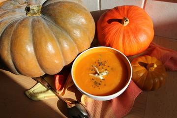 courge, pumpkin, soupe, potage , citrouille