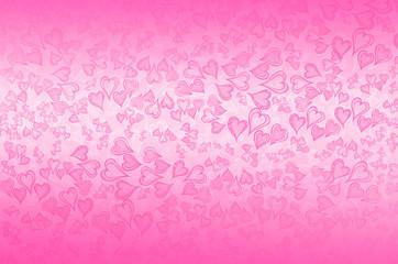 Doodle Herzen auf rosa Hintergrund Muster