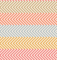 Decorative rural pattern in pastel colors