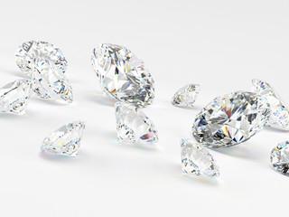 3d rendered illustration of some diamonds
