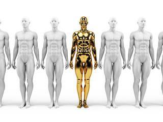 3d rendered illustration of a golden statue