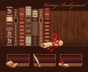 Vintage Book Template for Web site