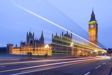 Big Ben at night, London.