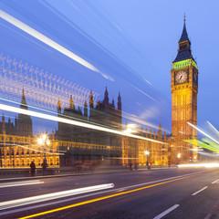 Big Ben illuminated at night, London
