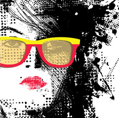 Poster Woman face Women in sunglasses