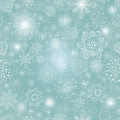 blue background with snowflake illustration