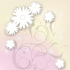 floristic design with vector flowers