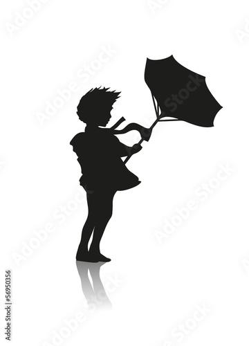Mädchen Mit Regenschirm Stockfotos Und Lizenzfreie Vektoren Auf