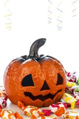 Pumpkin in halloween party