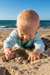 Wall Mural - Strandurlaub mit Kind