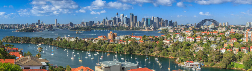 Spoed Fotobehang Australië Sydney Harbour panorama from Mosman