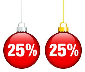 """Christmas Balls Sale """"25%"""" Red"""