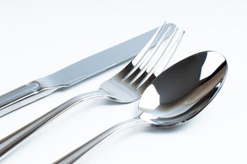 Shiny new cutlery, silverware