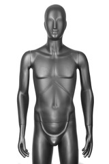 black male mannequin isolated on white