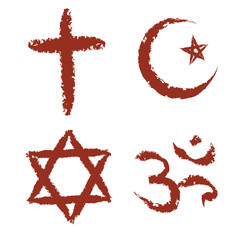 painted religion signs