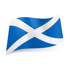 State flag of Scotland.