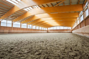Empty indoor riding hall