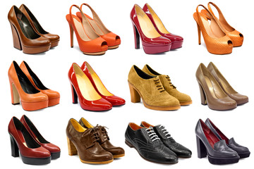 Female footwear collection Wall mural