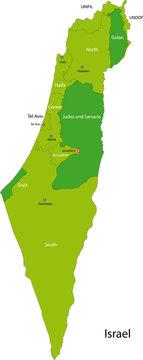 Green Israel map