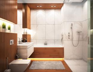 Modern bathroom in modern home