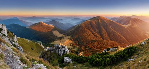 Wall Mural - Autumn Slovakia mountain  panorama