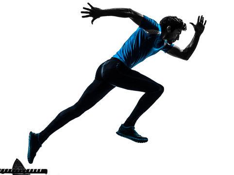 man runner sprinter  silhouette