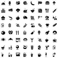 food & drinks iconset black
