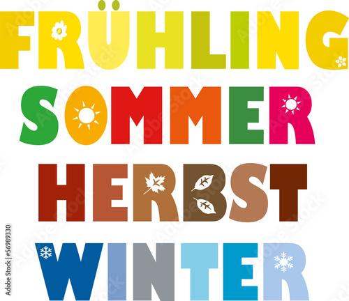 """""""4 jahreszeiten bunt frühling sommer herbst winter"""