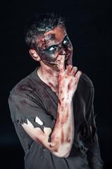 zombie picks his nose