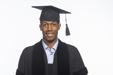 Young African American graduate, horizontal