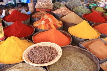 Fotorolgordijn Marokko marocco mercato