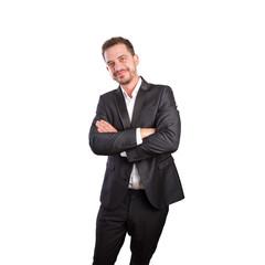 Smiling business man