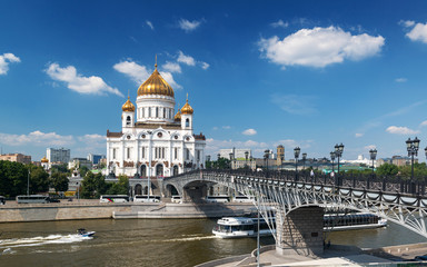 The Cathedral of Christ Saviour and Patriarshy bridge, Moscow