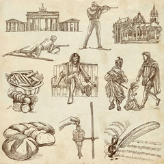 traveling Germany - hand drawings - old paper part 1