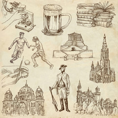 traveling Germany - hand drawings - old paper part 2