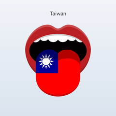 Taiwan language. Abstract human tongue.