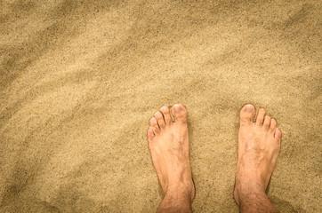 Naked Feet in the Desert