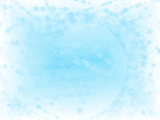 Bluestar snow illustration as abstract background
