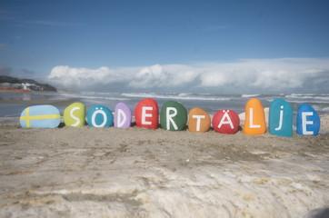Södertälje, souvenir on colourful stones