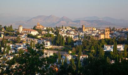 Wide View of Granada, Spain