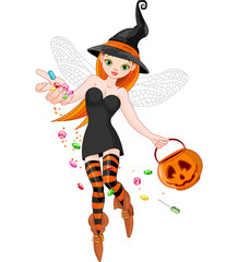 Trick or treating witch