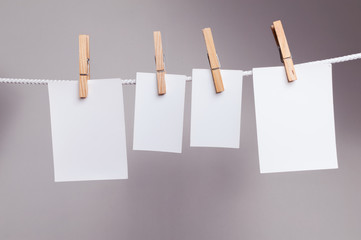 White paper cards