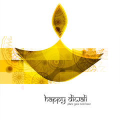 Fantastic creative diwali diya colorful vector illustration