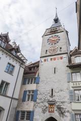 Zug, historische Altstadt, Zytturm, Stadttor, Tor, Schweiz