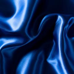 Blue luxury satin