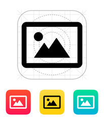 Landscape photo icon.